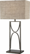 Lite Source LS-23378 Jefferson Contemporary Aged Silver Table Lamp