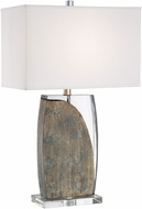 Lite Source LS-23389 Lynch Contemporary Dark Walnut Lighting Table Lamp
