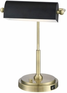 Lite Source LS-23392AB Caileb Antique Brass LED Desktop Lamp
