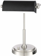 Lite Source LS-23392BN Caileb Brushed Nickel LED Study Lamp