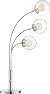 Lite Source LS-23410 Kampala Contemporary Chrome Halogen Table Top Lamp
