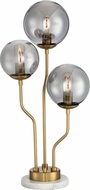 Lite Source LS-23422B-SMOKE Parley Modern Brass Table Light