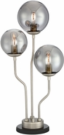 Lite Source LS-23422N-SMOKE Parley Modern Antique Nickel Lighting Table Lamp
