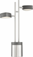 Lite Source LS-23468 Charlyne Modern Brushed Nickel LED Lighting Table Lamp