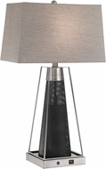 Lite Source LS-23484 Granger Contemporary Polished Steel/Black LED Table Top Lamp