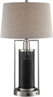 Lite Source LS-23485 Tobias Modern Polished Steel LED Side Table Lamp