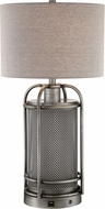 Lite Source LS-23486 Rustie Contemporary Polished Steel LED Table Lamp