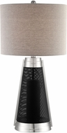 Lite Source LS-23489 Olson Contemporary Chrome/Black LED Table Lighting