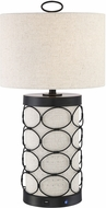 Lite Source LS-23492 Luvenia Contemporary Black LED Table Lamp Lighting