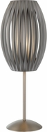 Lite Source LS-2875SS-GREY Egg Contemporary Stainess Steel Table Lighting