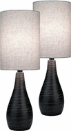 Lite Source LS-2997-2PK Quatro Contemporary Dark Bronze Fluorescent Lighting Table Lamp (2 Pack)