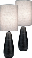 Lite Source LS-2998-2PK Quatro Modern Dark Bronze Fluorescent Table Lamp Lighting (2 Pack)
