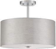 Lite Source LS-5570CSIL Silvain Chrome Finish 16  Wide Ceiling Light