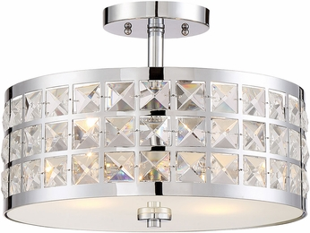 Lite Source LS-5822 Damond Chrome Ceiling Light