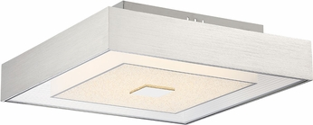 Lite Source LS-5915DIAMOND Halona Contemporary Chrome LED Ceiling Light Fixture