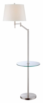 Lite Source LS-82139 Eveleen Swing Arm Transitional Floor Lamp With Tray