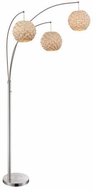 Lite Source LS-82268 Linterna Modern Polished Steel Floor Lamp