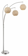 Lite Source LS-82268 Linterna 93 Inch Tall Natural Bamboo Arch Floor Lamp - 3 Lights