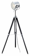 Lite Source LS-82337 Trey 54 Inch Tall Chrome Finish Tripod Spotlight Floor Lamp