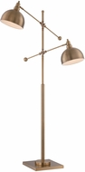 Lite Source LS-82605 Cupola Contemporary Brushed Brass Fluorescent Floor Lamp