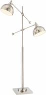 Lite Source LS-82605BN Cupola Modern Brushed Nickel Floor Lamp Lighting