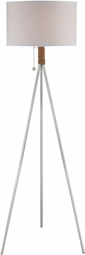 Lite Source LS-82762 Silver Fluorescent Floor Lamp