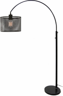 Lite Source LS-83018 Hamilton Contemporary Black Floor Lamp