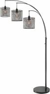 Lite Source LS-83019 Hamilton Modern Black Floor Light