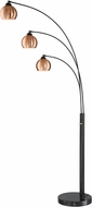Lite Source LS-83030 Braun Contemporary Dark Bronze Arc Floor Lighting