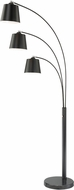 Lite Source LS-83033BLK Quana Modern Black Arc Floor Lamp Light
