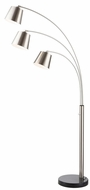 Lite Source LS-83033BN Quana Contemporary Brushed Nickel Arc Light Floor Lamp