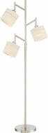 Lite Source LS-83040 Falan Modern Brushed Nickel Light Floor Lamp