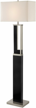 Lite Source LS-83076 Theoris Modern Dark Walnut LED Light Floor Lamp