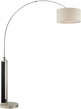 Lite Source LS-83078 Theoris Contemporary Dark Walnut Arc Floor Lamp Lighting