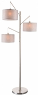 Lite Source LS-83107 Sloane Contemporary Brushed Nickel Floor Lamp