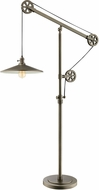 Lite Source LS-83117 Garrad Modern Antique Silver Floor Light