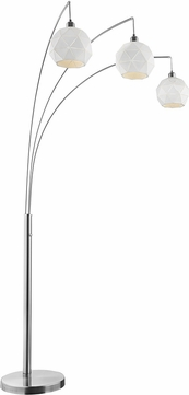 Lite Source LS-83132 Pandora Modern Brushed Nickel Arc Light Floor Lamp