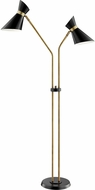 Lite Source LS-83136 Jared Contemporary Antique Brass Light Floor Lamp
