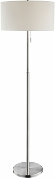 Lite Source LS-83158 Tomi Brushed Nickel Floor Lamp Light