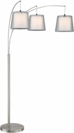 Lite Source LS-83283 Norlan Contemporary Brushed Nickel Arc Floor Lamp