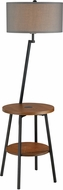 Lite Source LS-83472BLK-GRY Lemington Modern Black Floor Light