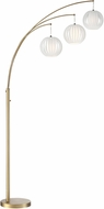 Lite Source LS-8871GOLD-WHT Deion Modern Brushed Gold Arc Floor Lamp