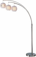Lite Source LS-8871PS-WHT Deion Contemporary Polished Steel Arc Floor Light