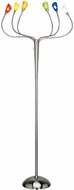 Lite Source LS-9975MULTI Lollipop Modern Polished Steel LED Floor Lamp Light