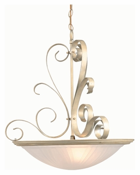 Lite Source LS1053PEARL Variance Pearl Finish 20 Inch Diameter Inverted Ceiling Pendant Lighting