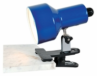 Lite Source LS114BLU Clip-On II Lite 6 Inch Tall Blue Clamp On Lamp