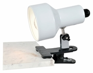 Lite Source LS114WHT Clip-On II Lite 7 Inch Tall White Clamp On Light