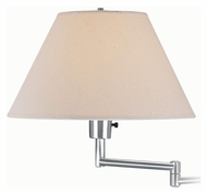 Lite Source LS1171PS Swinger Polished Steel Finish Transitional Wall Lamp - 15 Inches Tall