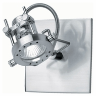 Lite Source LS13371PS Technic Collection 6 Inch Tall Polished Steel Finish Wall Lighting Fixture
