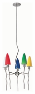 Lite Source LS14525MULTI Kaub Multicolored 5 Lamp 18 Inch Diameter Modern Chandelier Light Fixture